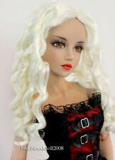 "1/4 bjd 7-8"" doll head white curly wig dollfie Luts Iplehouse Smart Jd285Sm413M"
