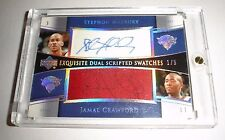 Exquisite Dual Scripted Swatches Jamal Crawford Stephon Marbury Auto Patch 1/5