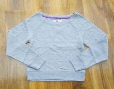 Mini Boden Girls pretty cotton grey cropped Jumper. Size XS. Brand new.