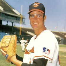 BALTIMORE ORIOLES ACE OF THE STAFF JIM PALMER WITH A BIG SMILE IN PITCHING FORM