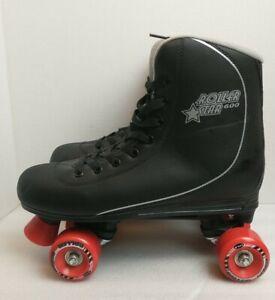 Roller Star 600 Roller Skates, Black, Size 10