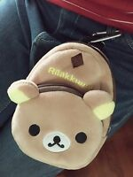 Kawaii cute rilakkuma relax bear San-X phone bag Brown Zip coin wallet