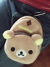 Kawaii cute rilakkuma relax bear San-X phone bag Brown Zip coin wallet