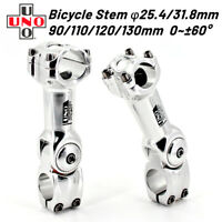 Bicycle Bike Short Handlebar Stem MTB 31.8mm Aluminum Adjustable Riser D2R7