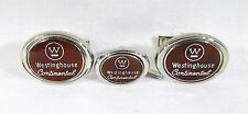 Silver Tone Cufflinks with Westinghouse Continental Appliances Logo