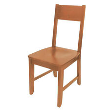 Autom 38 1/2 Inch Light Brown Solid Maple Wood Engraved Hardwood Side Chair N.G.