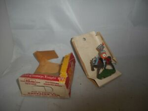 Vintage Britains Swoppet Mounted Knight with Partial Box - 15th Century Knights