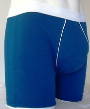 MENS BOYS FUN DESIGNER UNDERWEAR BLUE BOXER LONG NO FLY 2B1 MEDIUM A1