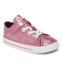 New Converse All Star Chuck Taylor Toddler Girls Glitter Shoes~size8 $49