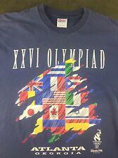 True Vintage 1996 Atlanta Summer Olympic Games XXVI Olympiad Georgia T-Shirt XL