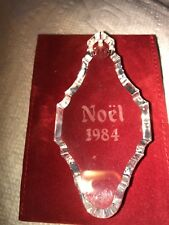 🎅🏽VTG BACCARAT CRYSTAL Noel Christmas Ornament 1984 Tear Drop🎅🏽