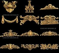 3D STL Models for CNC Router Carving Artcam Aspire Collection Decor 1634