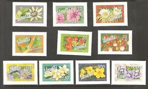 2006  -  VANUATU  -  S.G  973 / 982  -  FLOWERS  S/A UMM