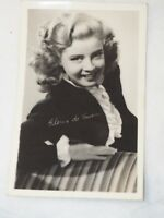 Gloria De Haven signed Real Photo Post Card RPPC Exhibit White Border wjcRAYLA