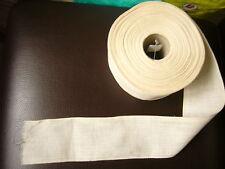 Broderie - Bande à Broder lin  - Bande Aïda - 70mm - ivoire