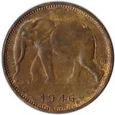 1946 Congo (Belgian) 1 Franc Coin Elephant KM#26