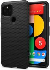 Google Pixel 4a 5G, Pixel 5 Case | Spigen® [Liquid Air] Protective Cover Black