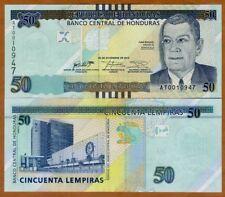 Honduras, 50 Lempiras, 2016 (2018), P-New, UNC > Braille, New sig. New Design