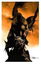 """BATMAN DARK KNIGHT ART PRINT - SIGNED JAE LEE 11""""x17"""""""