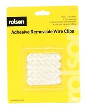 Rolson 12 Damage Free Hanging Removable Clear Clips Easy to remove.