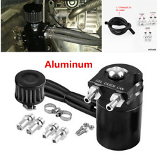 300ML Black Aluminum Racing Car Oil Catch Can Reservoir Tank Oil Tank w/Filter