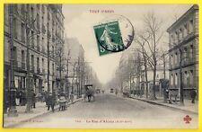 cpa FRANCE Rare 75 - PARIS Scène de Vie en 1907 Rue d'ALÉSIA Collection FLEURY