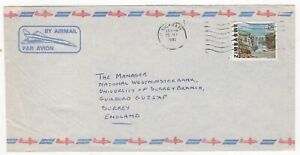 1982 ZIMBABWE Air Mail Cover BULAWAYO to GUILDFORD GB Nat West Bank