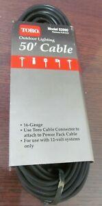 Unused Toro Brand #52990 OEM Outdoor Lighting Low Voltage Cable 50' 16/2