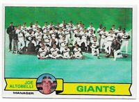 1979 Topps San Francisco Giants Team Set with Willie McCovey