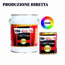Polifox Lucido Resina Epossidica Per Pavimenti Interni A+B Kg 10 (90 M²) Colori