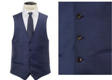 John Lewis Super 100s Melange Twill Tailored Waistcoat, Blue Size 38R BNWT £60