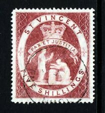 ST. VINCENT Queen Victoria 1888 Five Shillings Lake SG 53 VFU