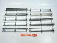 BW85-2# 10x Märklin Spur 0 Gleis gerade (32 cm) für elektrischen Betrieb