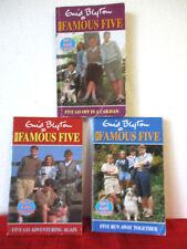Enid Blyton FAMOUS FIVE bulk lot x 3 PB #2 #3 #5 Run Away Together etc TV TIE-IN