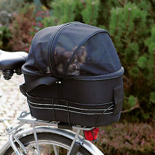 Trixie Fahrradtasche 13118 für hinten am Gepäckträger Fahrradkorb für Hunde Dach