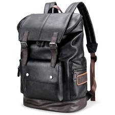 2020 New Mens Leather School Backpack Shoulder Laptop Travel Rucksack Bag