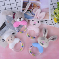 1Pc baby rattle toys rabbit plush baby cartoon bed educational toy hand bellsJF
