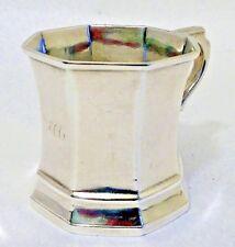 A coin silver child's mug, Gregg Hayden & Co., Charleston SC c.1846-52.