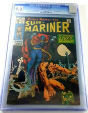 SUB-MARINER #22 CGC 9.2 Marvel KEY DR.STRANGE NAMOR pre-34 Feature Defenders #1