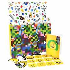 New Lego VIP Minecraft Birthday Gift Bag Card Wrapping Paper Set 5006008