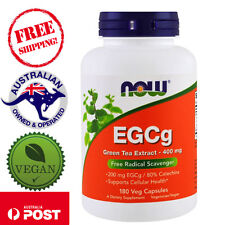 Now Foods EGCg Green Tea Extract 400 mg 180 Vegan Caps Supports Cellular Health