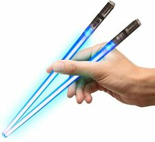 Light Up LightSaber Chopsticks, Blue Pair.