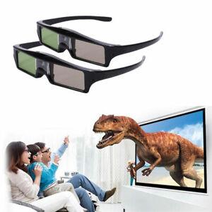 2x 3D-Brille für alle 3D-DLP-Projektoren Optoma Acer BenQ Optoma ViewSonic Black