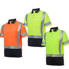 JBS Hi Vis S/S D+N H Pattern Trad Polo SAFETY WORKWEAR, 6DHS