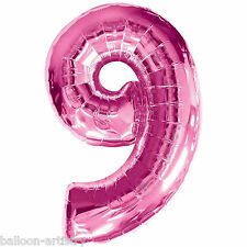 Giant Pink Supershape Number Balloon - 9
