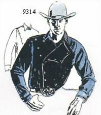 Classic Western Mens Old West shirt pattern, Rodeo, Lola Gentry 9314**+