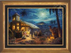 Thomas Kinkade Studios The Nativity 24 x 36 Limited Edition S/N Framed Canvas