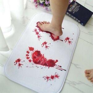 Bloody Footprint Bathroom Mat Non-slip Blood Bathmat Pads Home Decoration