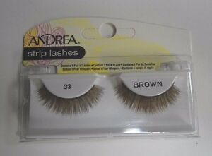 Andrea's Strip Lashes Fashion Eye Lash Style 33 Brown - (Pack of 6)