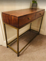 Mid Century Console Table Vintage Storage Drawers Danish Hallway Metal Furniture